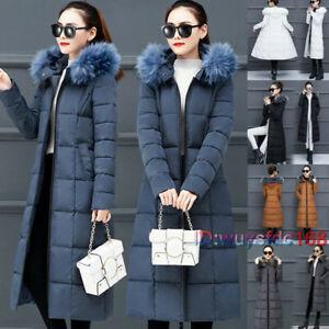 New Girls Down Cotton Bubble Padded Hooded Long Winter Parka Women's Jacket Coat