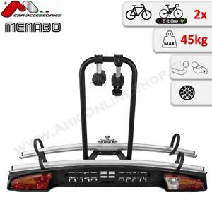 Menabo Merak Type S Fahrradträger für 2 Räder eBikes Anhängerkupplung Heckträger