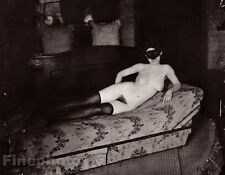 1912 Nude Female Prostitute E.J. Bellocq Vintage New Orleans Louisiana Photo Art