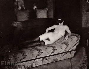 1912 Vintage E.J. BELLOCQ New Orleans Nude Female Prostitute Louisiana Photo Art