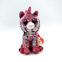 "6"" TY Beanie Boo's Sparkle the Unicorn Glitter Eyes Stuffed With Tag  Plush Toys"