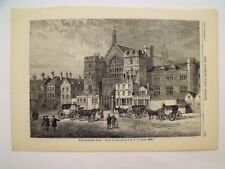 Antique Victorian Illustrated Print Westminster Hall London
