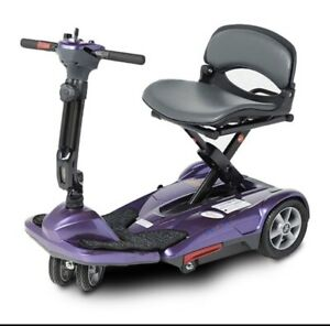NEW EV Rider S19M TranSport M Easy Move Folding Mobility Scooter PLUM