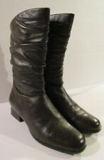 WORTHINGTON Womens Brown Leather Slouch Mid Calf Boots Sz. 7 M