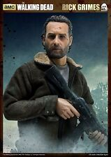 "READY ThreeZero THE WALKING DEAD Rick Grimes 1/6 12"" Figure 3A Andrew Lincoln"
