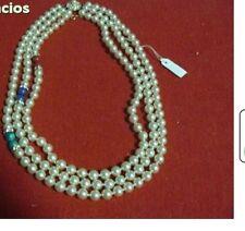 51386509238c Collar perlas Blancas Tres vias adorno perla color