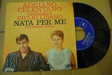 "ADRIANO CELENTANO""NATA PER ME-disco 45 giri JOLLY 1962"""