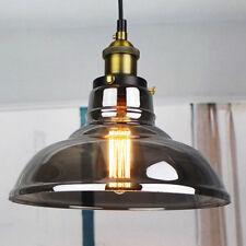 Retro Grey Glass Pendant Lights Industrial Antique Ceiling Lamp 60w Bulb