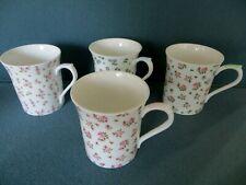 4 PETITE CHINTZ - QUEEN'S Tea Cups Fine Bone China White Florals Different