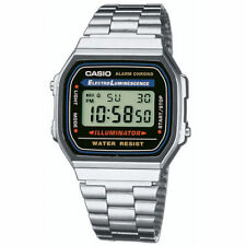 CASIO Retro Classic Unisex Digital Steel Bracelet Watch-A168WA-1YES Silver
