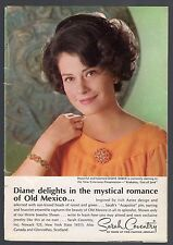 1969 SARAH COVENTRY JEWELRY AD~DIANE BAKER~MYSTICAL ROMANCE of OLD MEXICO