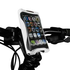 Ibera Bike White Handlebar Phone Case Cycling Adjustable Stem Mount NEW PB9Q4-W