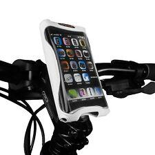 Ibera Bike White Handlebar Phone Case Cycling Adjustable Stem Mount NEW PB9Q4-W