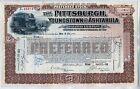 Pittsburgh Youngstown & Ashtabula Railroad Company Stock Certificate Ohio PA