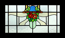 Art Nouveau Mackintosh Roses English Antique Stained Glass Window