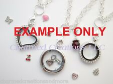 100pc Assorted Wholesale Lot Of Floating Charms For Glass Memory Locket Necklace