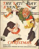 DEC 25 1937 SATURDAY EVENING POST magazine NORMAN ROCKWELL - CHRISTMAS