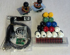 2 Player USB, mame, arcade kit includes: 2 Sanwa joysticks, 16 Happ buttons