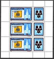 Hungary - 1976. Interphil 1976 small sheet - Mnh