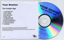 YOUR DEMISE The Golden Age 2012 UK numbered 11-track promo CD