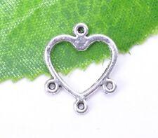 30pcs tibetan silver heart earring connectors findings connector B117