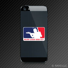 (2x) Major League Boba Fett Cell Phone Sticker Decal Self Adhesive Mobile
