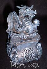 Heroic Fantasy : Boite Dragon Carrée Gothique Goth Medieval 30275