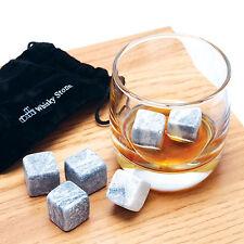 9pcs Whisky Ice Stones Drinks Cooler Cubes Granite Stones Rocks Cubes Gray