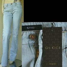 GUCCI New Designer Pants Jeans sz 38 - 2 Blue Womens Denim Authentic GG Logo