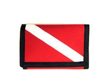 Diver Down Scuba Dive Flag Cordura Fabric Fold Wallet w/ Zippered Change Pocket