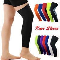 Men Women Long Compression Knee Brace Basketball High Support Leg Thigh Sleeve O
