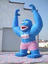 20ft Inflatable Blue Gorilla Advertising Promotion with Blower MOST POPULAR