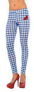 Wizard Of Oz Dorothy Plaid Blue White One Size Costume Leggings