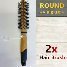 2x Round Wooden Hair Brush Detangling Styling Comb Straightener Massage Large