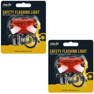 2x LED CYCLING SAFETY LIGHTS REAR/HANDLE BAR MOUNT Bike Bicycle Visibility Lamp