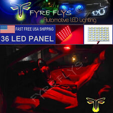 1x Super Bright Red 36 LED Panel Light for Dome, Map, Cargo, Trunk lights #36PR