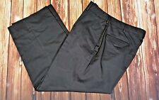 Roundtree & Yorke Mens 34/29 Black Dress Pants Flat Front 5 Pocket