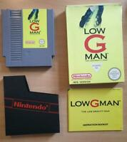 Low-G Man for Nintendo NES Rare Complete UK PAL Boxed + Manual