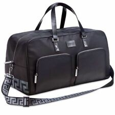 BRAND NEW VERSACE MENS BLACK TRAVEL WEEKEND HOLDALL DUFFLE FLIGHT SPORTS GYM BAG
