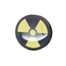 Hollow Screw-Fit Ear Stretcher Tunnel Plug with Bio Hazard Logo Acrylic