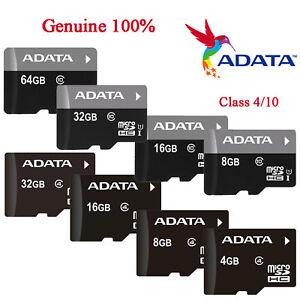 8/16/32/64GB Original ADATA MicroSD TF SDXC Mobile Memory Card Phone Wholesale