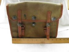 Some Sort Of Military Canvas And Leather Bag