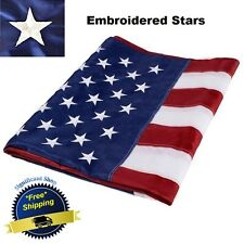 3 X 5 Patriotic Flag American U S Ft Embroidered Heavy Duty US 3x5 Feet  Outdoor