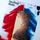 STERLING RUBY RED GOLD AND BLUE ART EXHIBITION POSTER