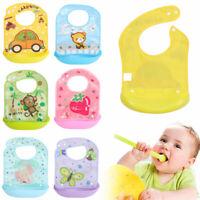 Saliva Towel Removable Feeding Kids Apron Pick Rice Pocket Baby Silicone Bibs