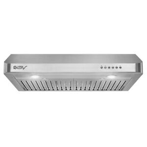 30 In. Under Cabinet Range Hood 750 CFM Kitchen Vented Hood Stainless Steel 10D