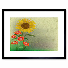 Painting Abstract Floral Flower Pattern Design Landscape Framed Print 12x16 Inch