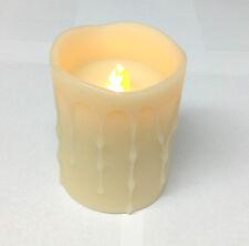 """(6) Wax Dripping Pillar Battery Flameless LED Light Candles 3"""" x 4"""" by Melrose"""