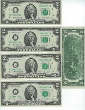 """UNITED STATES 1976  2$  """"C"""" DISTRICT  5 CONSECUTIVE NOTES    NICE UNC"""