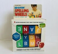 Spelling Wheel by M Toy 1987, Educational  Learn To Spell Kids Vintage New